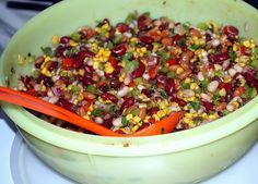 Simple Bean Salad. I made this and people could not stop talking about it. Huge hit!