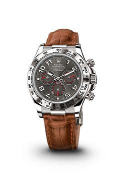 ROLEX COSMOGRAPH DAYTONA LEATHER STRAP WATCH - ROLEX Luxury Watches