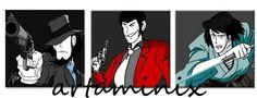 L'incorreggibile Lupin! #lupin #jighen #goemon #tris #comix #fumetti fumetti #handmade
