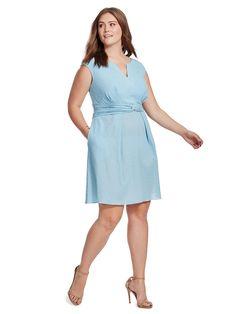 Adrianna Papell | Gingham Check Dress | Gwynnie Bee