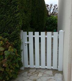 Portillon battant en aluminium trez x cm for Petit portail de jardin en pvc