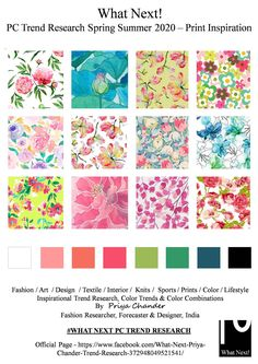 - DesignZebra - Mode - 2020 Fashions Woman's and Man's Trends 2020 Jewelry trends Color Trends 2018, Fashion Forecasting, Art Textile, Summer Fashion Trends, Summer Trends, Motif Floral, Floral Prints, Hotel Decor, Mellow Yellow
