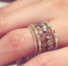 rectangle and square rings, Personalized stacking rings http://www.justtrendygirls.com/personalized-stacking-rings/