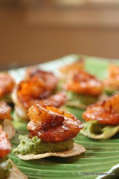 Spicy shrimp avocado appetizer