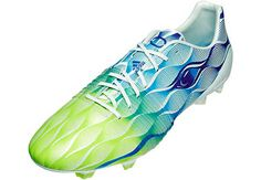 White and Solar Green adidas Nitrocharge 1.0 Crazylight Firm Ground Soccer Cleats |