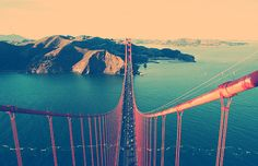 The Golden Gate, San Francisco, California- I think this is the BEST pictue of the Golden Gate I have ever seen. Places To Travel, Places To See, Travel Destinations, Beautiful World, Beautiful Places, Voyager C'est Vivre, Road Trip, San Francisco California, Golden Gate Bridge