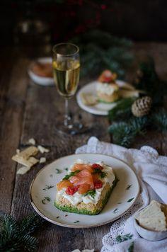 Pastel de Salmón, queso Ricotta y espinacas   Salmón, Ricotta and spinach terrine http://saboresymomentos.es