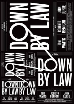 Down by Law, director: Jim Jarmusch, 1986, designed by Mateo Broillet, CH/ES, 2014