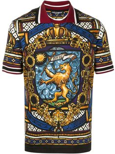 Shop online black Dolce & Gabbana lion print polo shirt as well as new season, new arrivals daily. Phenomenal luxury selection, get it now with quick Global Shipping or Click & Collect orders. Embroidered Polo Shirts, Printed Polo Shirts, Men's Shirts, Mens Designer Polo Shirts, Polo Shirt Design, Mexican Outfit, Lion Print, Cotton Shirts For Men, Dolce Gabbana