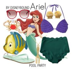 """""""Ariel"""" by leslieakay ❤ liked on Polyvore featuring Danielle Nicole, Les Néréides, WALL, Dorothy Perkins, Tkees, Yves Saint Laurent, Tiffany & Co., disney, disneybound and poolparty"""