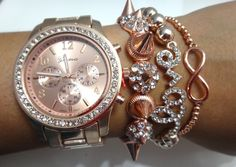 Image of ROSE GOLD ARM CANDY SET