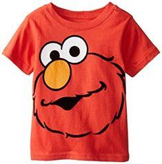 Sesame Street Little Boys' Short Sleeve Elmo Face T-Shirt