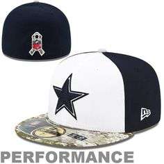 Mens New Era Camo Navy Blue White Dallas Cowboys 59FIFTY Salute To The  Service Sideline Fitted Hat 4ec496bd6
