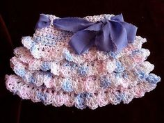 ▶ crochet RUFFLED SKIRT, how to diy, make it any size, baby to adult, swing skirt, shells, - YouTube