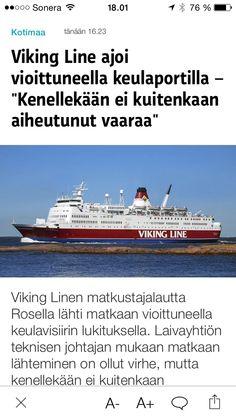 Toiset ajaa autolla, toiset laivalla, Viking Line vioittuneella keulaportilla!