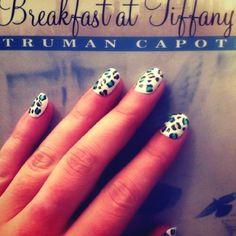 #leopard #nails #books