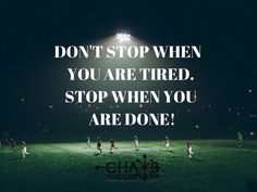 Soccer motivational quote