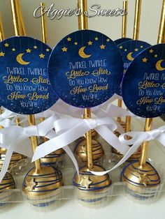 Twinkle twinkle little star baby shower Cake Pops