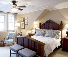 Warm Country Bedroom | photo Tim McGhie | design Philip Mitchell | House & Home