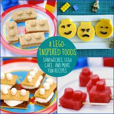 Peanut Butter and Honey Lego Sandwiches