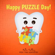 HAPPY NATIONAL PUZZLE DAY!!! Exercise your child's problem brain with a puzzle!!!  PVPD - Palm Valley Pediatric Dentistry  http://pvpd.com   #pvpd #design #puzzlepiece #awesome #solve #color #cube #symbol #toys #rubikscube #rubiks #educationtoys #puzle #educationaltoy #retro #bazaronline #kidsbook #MondayMotivaton #WhenISolveAPuzzle #IWouldNameMyRockBand #MusicMonday