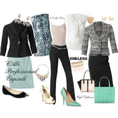 """CAbi Professional Capsule"" by fashionistaerica on Polyvore"