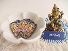 Buddhist Wisdom mini oracle cards Goddess Tara by GaneshasRat