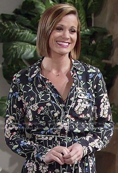 Chelsea's floral shirtdress on The Young and the Restless.  Outfit Details: https://wornontv.net/59158/ #TheYoungandtheRestless
