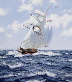 Море, парусник, фото.Куда плывёшь, мой парусник... / J. Brereton. Обсуждение на LiveInternet - Российский Сервис Онлайн-Дневников