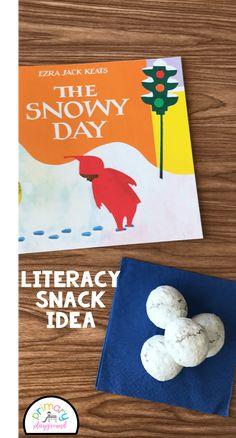 Literacy Snack Idea Snowy + Free Printable