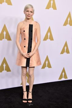 Michelle Williams in Louis Vuitton | Academy Awards Nominee Luncheon 2017