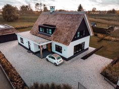 New build detached house - Nieuwbouw vrijstaande woning Beautiful combination of materials give this house a modern look wit - Home Remodeling Contractors, Building A New Home, House Goals, Modern House Design, Detached House, Home Renovation, Bungalow, My Dream Home, Future House