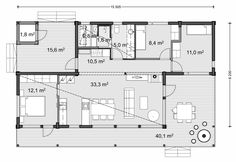 Floor Plan Drawing, Beautiful Buildings, Facade, House Plans, Sweet Home, Floor Plans, Cottage, Layout, Windows