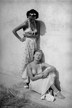 Nusch Eluard and Lee Miller | Mougins, France 1937 | By Roland Penrose | © Roland Penrose Estate, England 2016.  The Penrose Collection. All rights reserved. | Courtesy °CLAIR Gallery