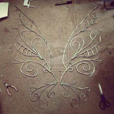 Aluminum armiture wire & hotglue: Fairy Wing Frames by XkurisutaruXx on deviantART