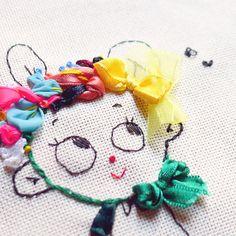 misako mimoko: Ribbon Embroidery