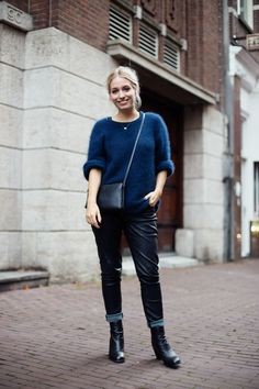 Knits & leather