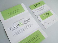 Trifold Wedding Invitation, Modern Tri Fold Wedding Invite, Printable