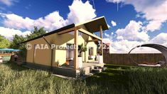 Proiect de casa parter cu calcan Bergenia by AIA Proiect Bergen, Case, Loft, Urban, Bed, Furniture, Home Decor, Decoration Home, Stream Bed