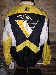 Vintage 90's NHL Pittsburgh Penguins Starter Jacket by RackRaidersVintage