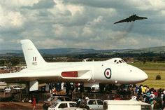 Vulcans at Woodford air show .1991. Vulcan XM603 static , XH558 overhead.