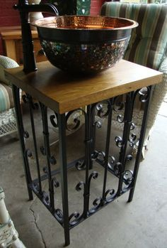 Black Dog Salvage - Architectural Antiques & Custom Designs: Custom Antique Wrought Iron Sink Base