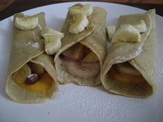 3 Ingredient Oat Flour Crepes. Have become one of my staples. Great for dessert crepes or to make lunch wraps.