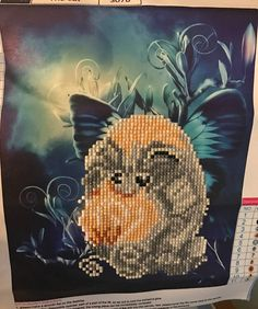 Finished Diamond Painting, Magic Fairy Cat, Partial Mosaic, Round Rhinestones on Canvas by TheBlushinRose on Etsy Magic Fairy, Canvas Board, New Crafts, Rhinestones, Mosaic, Wings, Banner, Bloom, It Is Finished