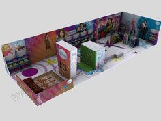 Presentación 3D para publicidad creativa | SP Integrales Proyecto para stand de Disney en centro comercial