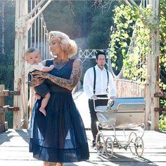 Cute rockabilly mom and baby<3