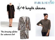 three quarter length sleeves to disguise flabby arms