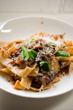 Pappardelle with elk ragù