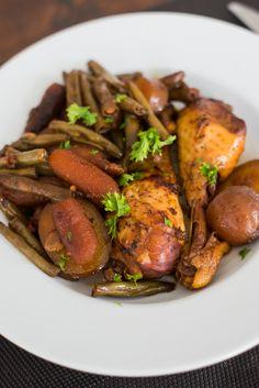 Honing-Knoflookkip met groenten Chicken Recepies, Kung Pao Chicken, Tandoori Chicken, Slow Cooker Recipes, Low Carb Recipes, Food Inspiration, Meal Prep, Easy Meals, Main Dishes