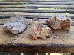 Petrified Wood Three Pieces by ArcaneTradepost on Etsy Beautiful Rocks, Petrified Wood, Trending Outfits, Unique Jewelry, Handmade Gifts, Vintage, Etsy, Food, Kid Craft Gifts
